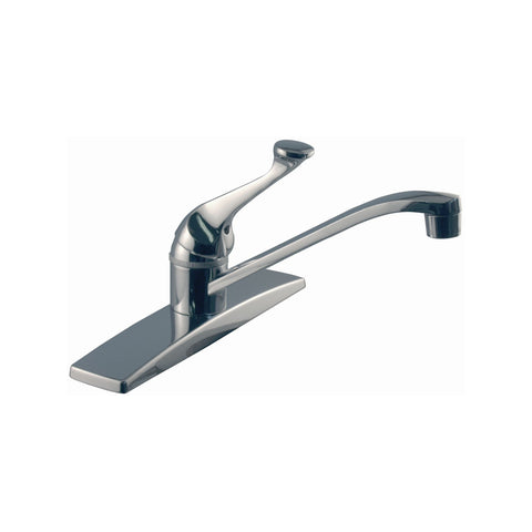 Chrome Single Lever Kitchen Faucet Without Spray