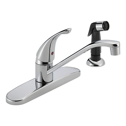 Chrome Single Lever Kitchen Faucet With Spray