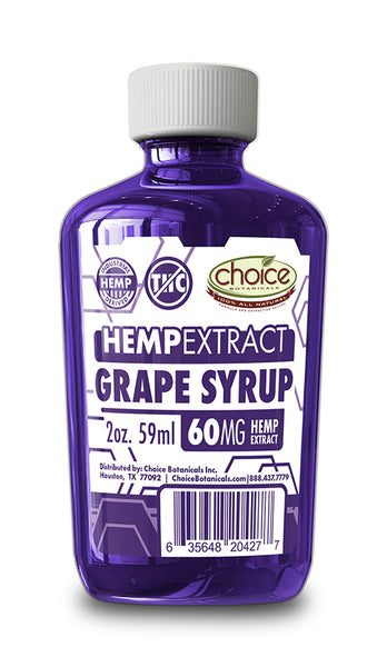 Grape Syrup Hemp Extract