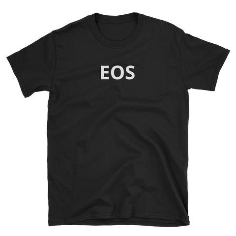 Black EOS T-Shirt -  - Crypto shirts, Crypto T-shirts Crypto Clothes, Crypto Apparel, Bitcoin Apparel, Crypto Billionaire