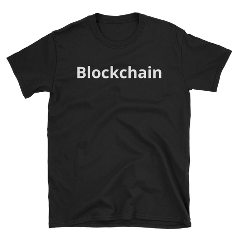 Black BlockchainT-Shirt -  - Crypto shirts, Crypto T-shirts Crypto Clothes, Crypto Apparel, Bitcoin Apparel, Crypto Billionaire