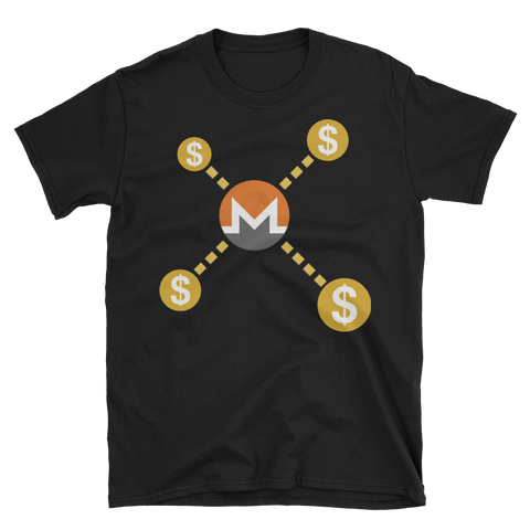 Monero over Dollar T-Shirt -  - Crypto shirts, Crypto T-shirts Crypto Clothes, Crypto Apparel, Bitcoin Apparel, Crypto Billionaire