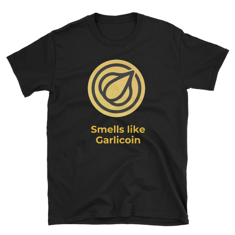 Smells like Garlicoin T-Shirt -  - Crypto shirts, Crypto T-shirts Crypto Clothes, Crypto Apparel, Bitcoin Apparel, Crypto Billionaire