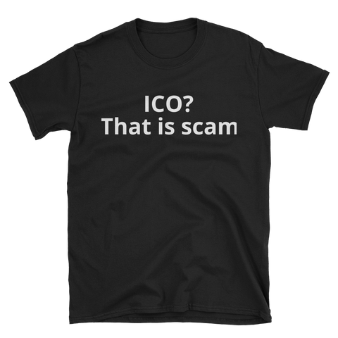Black ICO T-Shirt -  - Crypto shirts, Crypto T-shirts Crypto Clothes, Crypto Apparel, Bitcoin Apparel, Crypto Billionaire
