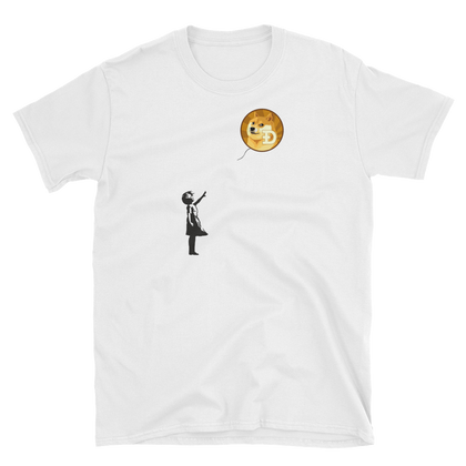 Banksy on Doge T-Shirt -  - Crypto shirts, Crypto T-shirts Crypto Clothes, Crypto Apparel, Bitcoin Apparel, Crypto Billionaire