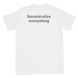 EOS Decentralize Back T-Shirt - Crypto shirts, Crypto t shirts, Cryptocurrency shirts, Crypto Apparel,