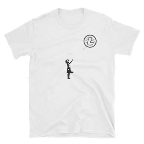 Banksy on Litecoin T-Shirt -  - Crypto shirts, Crypto T-shirts Crypto Clothes, Crypto Apparel, Bitcoin Apparel, Crypto Billionaire