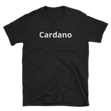 Black on Cardano T-Shirt - Crypto shirts, Crypto t shirts, Cryptocurrency shirts, Crypto Apparel,