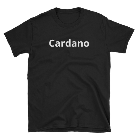 Black on Cardano T-Shirt -  - Crypto shirts, Crypto T-shirts Crypto Clothes, Crypto Apparel, Bitcoin Apparel, Crypto Billionaire