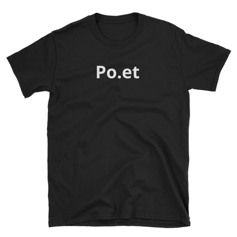 Black Poet T-Shirt -  - Crypto shirts, Crypto T-shirts Crypto Clothes, Crypto Apparel, Bitcoin Apparel, Crypto Billionaire