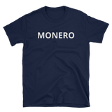 Black Monero T-Shirt -  - Crypto shirts, Crypto T-shirts Crypto Clothes, Crypto Apparel, Bitcoin Apparel, Crypto Billionaire