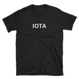 Black IOTA T-Shirt -  - Crypto shirts, Crypto T-shirts Crypto Clothes, Crypto Apparel, Bitcoin Apparel, Crypto Billionaire