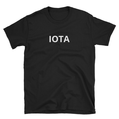 Black IOTA T-Shirt - Crypto shirts, Crypto t shirts, Cryptocurrency shirts, Crypto Apparel,