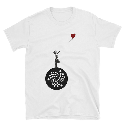 Banksy on IOTA 2 T-Shirt -  - Crypto shirts, Crypto T-shirts Crypto Clothes, Crypto Apparel, Bitcoin Apparel, Crypto Billionaire