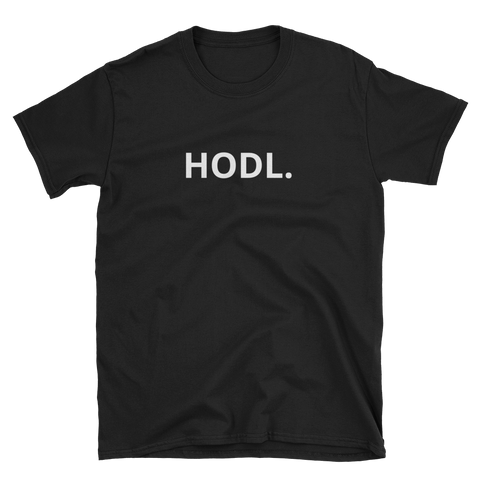 Black HODL. T-Shirt -  - Crypto shirts, Crypto T-shirts Crypto Clothes, Crypto Apparel, Bitcoin Apparel, Crypto Billionaire