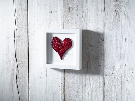 Photo of Medium Red Frit Heart Art Frame