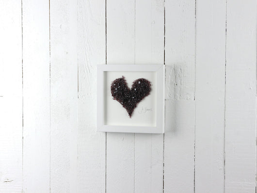 Medium Dusky Pink Frit Heart Art Frame
