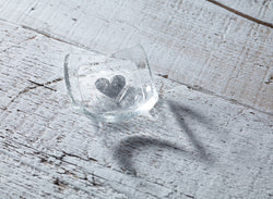 Photo of Silver heart & Clear 6cm Earring Dish