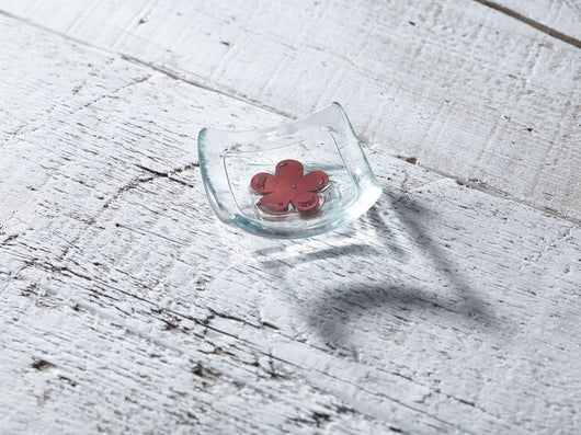 Photo of Classic Klaar Red Flower 6cm Earring Dish