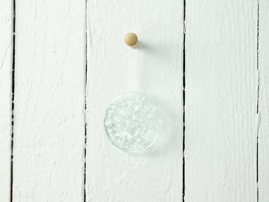 Frit Bauble Hanging - Clear