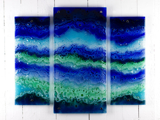 Crashing Waves Staggered Triptych