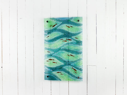 Artisan Swimming Fish Wall Panel - ART583