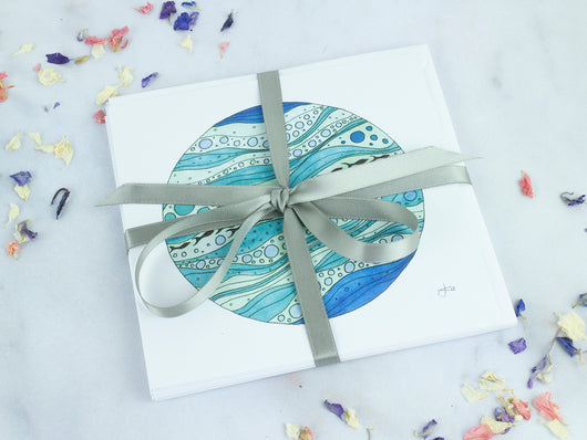 Greeting Card Pack of 5 - Fishes