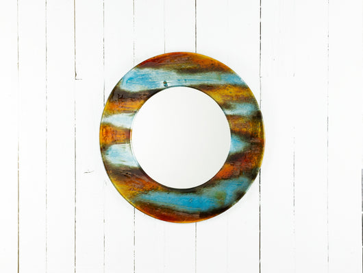INDIAN SUMMER 50CM ROUND MIRROR