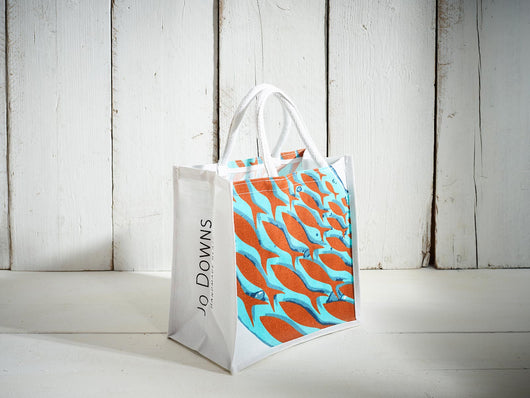 Medium Cornish Pilchards Jute Bag