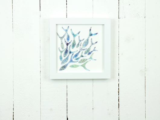 SHOALING FISH MEDIUM ART FRAME