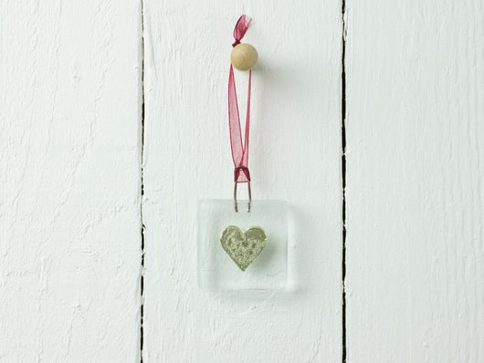 GOLD HEART MINI HANGING