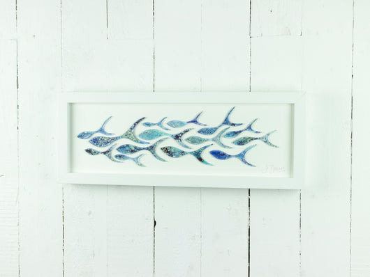SHOALING FISH RECTANGULAR ART FRAME - 12