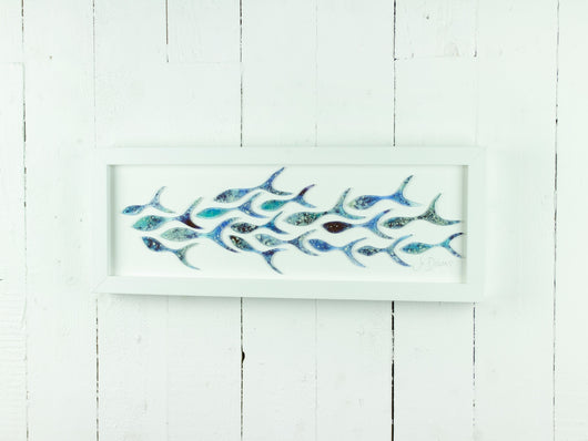SHOALING FISH RECTANGULAR ART FRAME - 13