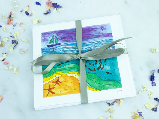 Greeting Card Pack of 5 - Sail Boat