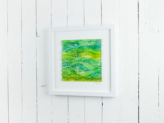 SEASCAPE DAWN LARGE ART FRAME