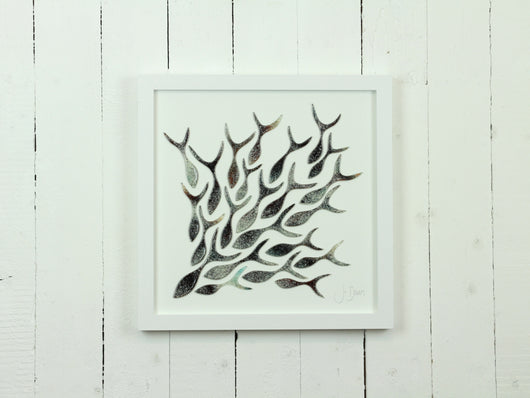 SHOALING FISH LARGE ART FRAME - 9