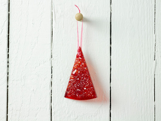 Frit Tree Hanging - Red