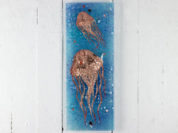 Artisan Twin Jellyfish Intricate Wall Panel - A