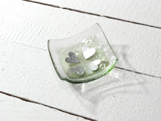 Photo of Vintage Hearts Olivine Square Jewellery Dish