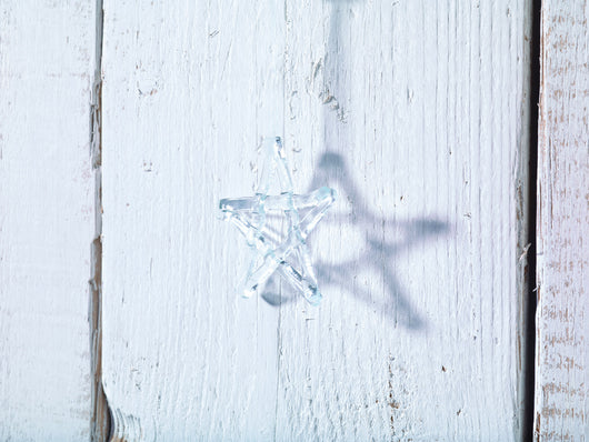 Small Christmas Star - Clear