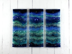 Artisan Blue Seascape Small Triptych 1