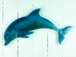 ARTISAN DOLPHIN WALL ART DEEP BLUE