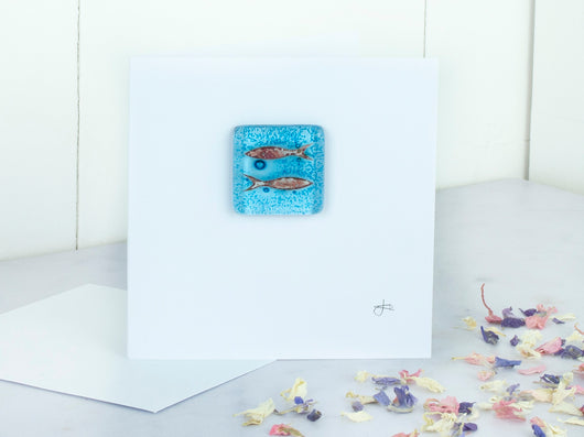 Greeting Card - Glass Fish