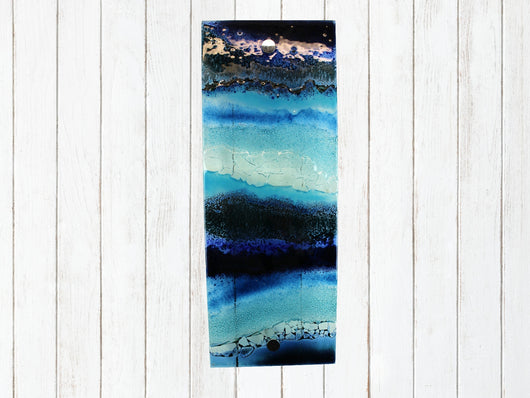 Artisan Multi Blue Wave Small Wall Panel - 2