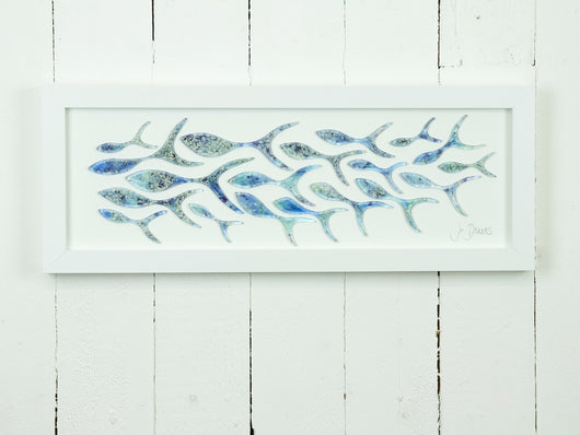 SHOALING FISH RECTANGULAR ART FRAME - 1