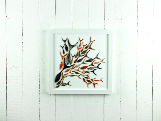 SHOALING FISH LARGE ART FRAME - 2246