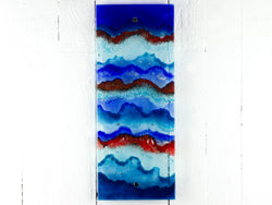 Artisan Blue & Red Wave Wall Panel