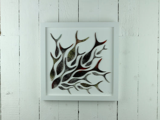 SHOALING FISH LARGE ART FRAME - 34