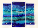 SUNNINGDALE EXCLUSIVE: BLUE WAVE STAGGERED TRIPTYCH
