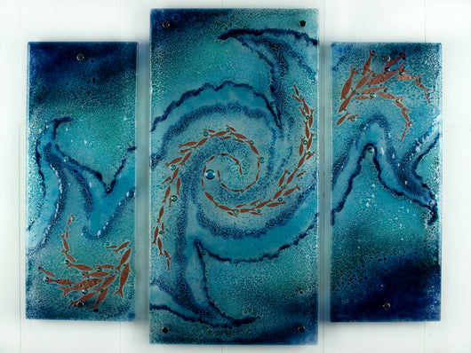 Artisan Whirlpool Staggered Triptych